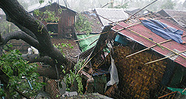 Houses Blown over in Burma
