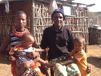 Damaison and Iddi with their two children. They changed their attitude towards health facility births due to AMURT's maternal health education campaign.