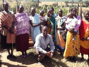 David with women from the Nomadic Community Support Program